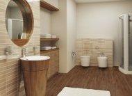 Фото використання лінолеуму в якості підлогового покриття ванної кімнати