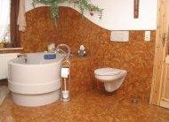 Фото коркового покриття підлог в суміщеному санвузлі