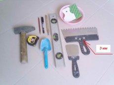 Як клеїти плитку на стіну - необхідні інструменти