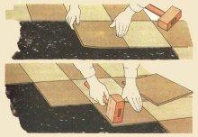 Припресовка пвх плитки при укладанні
