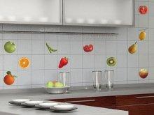 Самоклейка плівка з фотографіями фруктів на фартусі плитки