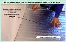 Укладання теплоізоляційного шару на підлогу